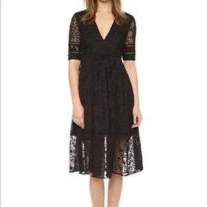 Free People Laurel Lace Dress, Blk, NWT